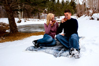 Winter Wonderland Real Engagements @ the Johnson Mill.