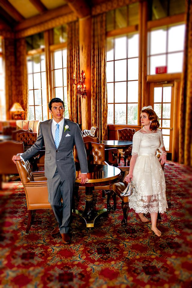 Snowbasin Wedding Inspiration-Tilt shift bride and groom
