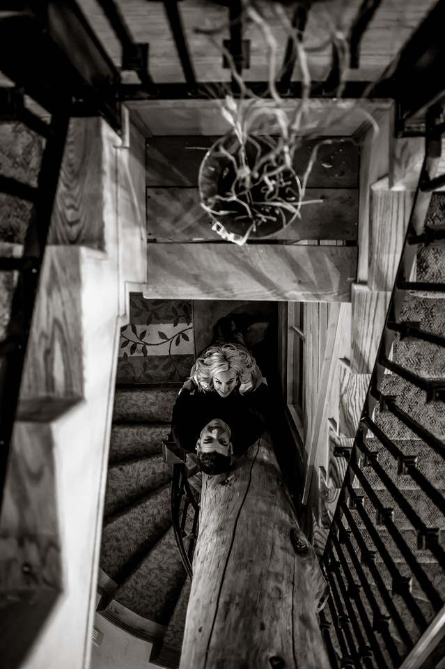 Framed by stairs
