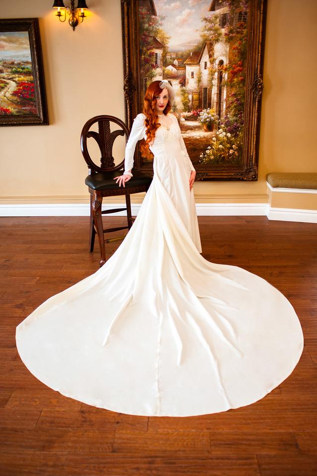 Full wedding dress shot