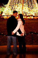 Mike and Cristie under the lights--16