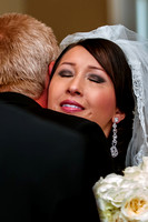 Bride tears up as father gives her away