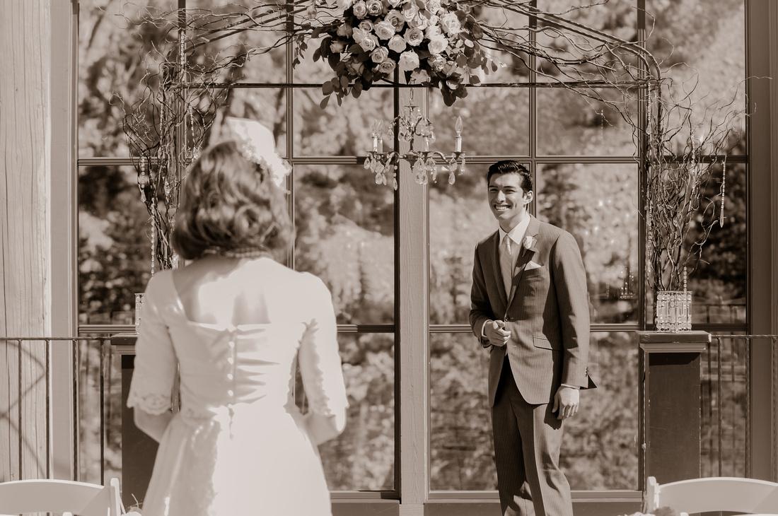 Snowbasin Wedding Inspiration First Look
