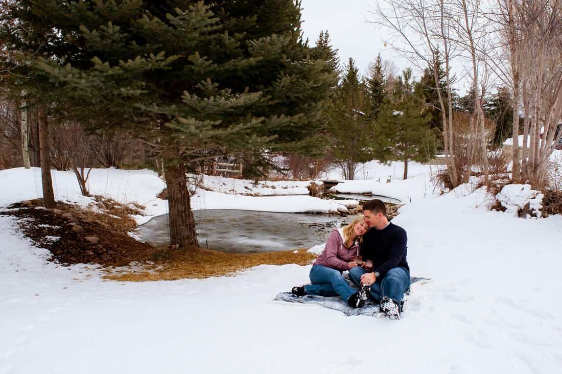 Engagement Pictures at the Johnson Mill Midway, Utah