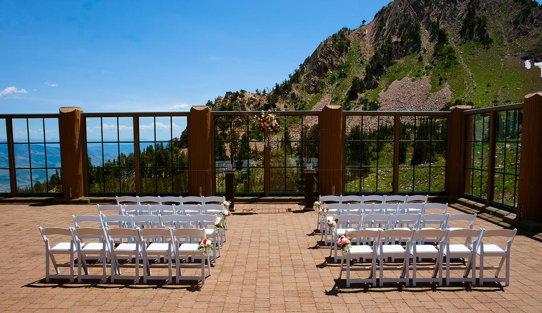 Snowbasin Wedding Inspiration Mountain wedding ceremony