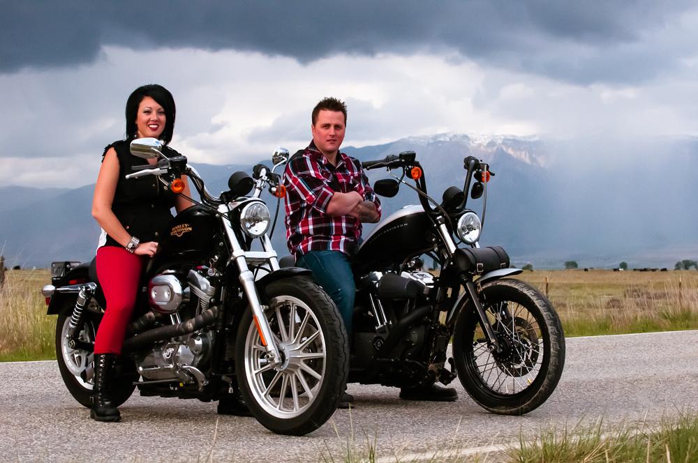 Portrait on Harley Davidsons