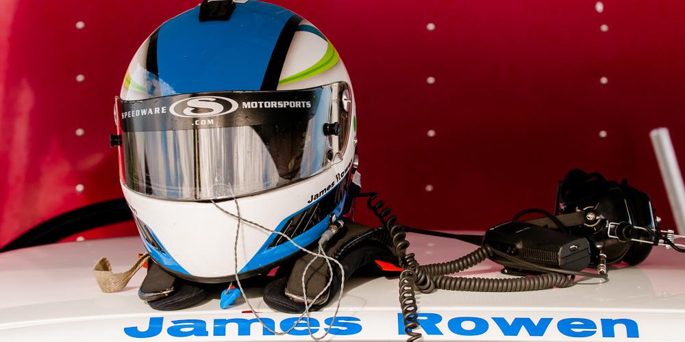 Helmet, James Rowen JDR Motorsports Honda Civic at Miller Motorsports Park.  NASA Championships 2013.