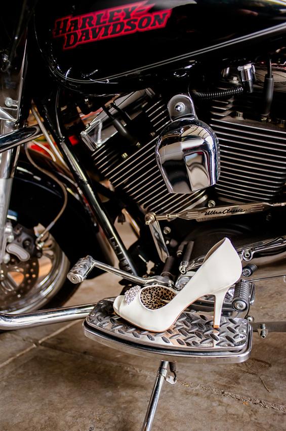 image of Jessica Simpson Heels on Harley Davidson