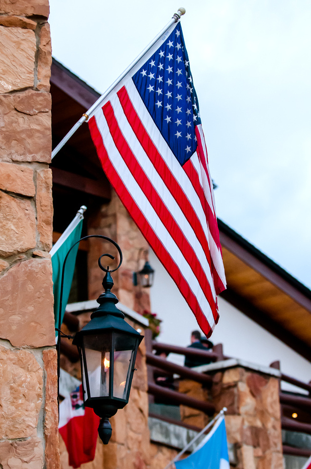 U.S. Flag/Dinner at Deer Valley/Park City/Stein Eriksen Lodge/Mountain Lodge