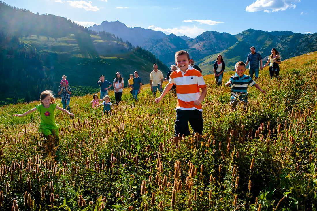 Albion basin summer family photos