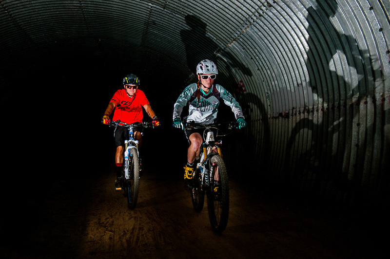 Mountain Biking in a Tunnel