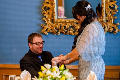 Wedding proposal at Grand America