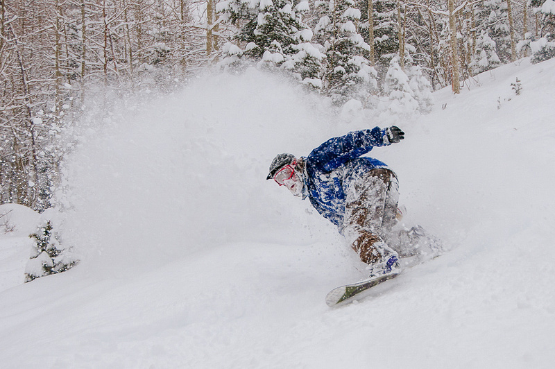 Face Shot in the Pow