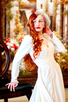 Gorgeous red head bridals with a stunning vintage twist.