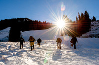 Snowshoeing with Wasatch Adaptive Sports, Snowbird
